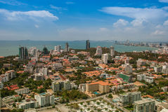 Urban Landscape of Pattaya city, Thailand royalty free stock image