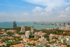 Urban Landscape of Pattaya city, Thailand Stock Photography