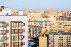 Urban landscape and residential areas, high-rise buildings.  Stock Image