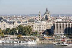 Urban LandScape With River Danube, Budapest, Hungary royalty free stock image