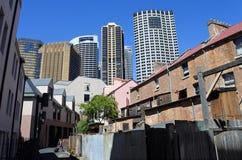 Urban landscape of The Rocks in Sydney Australia Royalty Free Stock Photo