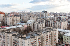 The urban landscape of russia. View of the city from the roof of the Russian city of Kirov Stock Photo