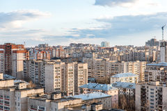 The urban landscape of russia. View of the city from the roof of the Russian city of Kirov Royalty Free Stock Photography