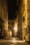 San Gimignano. Urban landscape about San Gimignano at night. Tuscany, Italy Stock Photo