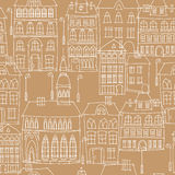 Urban landscape seamless pattern Stock Images