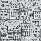 Urban landscape seamless pattern Stock Photography