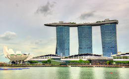Urban landscape of Singapore on a cloudy day Royalty Free Stock Image