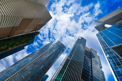 Urban landscape with modern skyscrapers Stock Photography