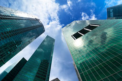 Urban landscape with modern skyscrapers Stock Photos