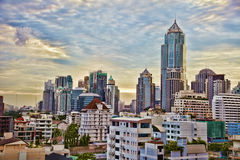 Urban landscape with skyscrapers Stock Photography