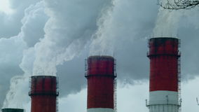 Urban landscape with smoke. The urban landscape with the smoke stock footage