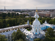 Urban landscape with Smolny Stock Photo