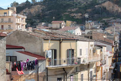 Urban landscape. Urban town view in the center of sicily Royalty Free Stock Photo