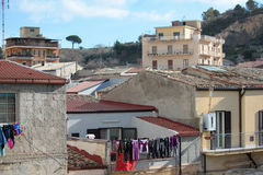 Urban landscape. Urban town view in the center of sicily Royalty Free Stock Image