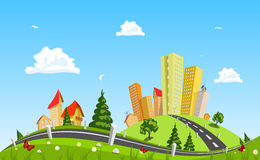 Urban landscape vector illustration Royalty Free Stock Photos