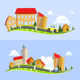 Urban landscape vector illustration Stock Photo