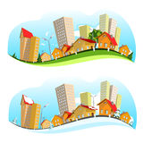 Urban landscape vector illustration Royalty Free Stock Image