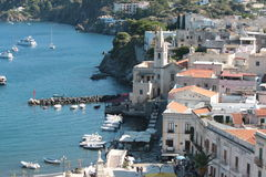 Urban landscape. View country Lipari Aeolian Islands Stock Images