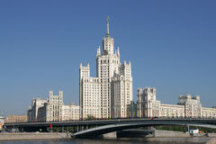 Urban Landscape. A view of a highrise soviet era building Stock Photography