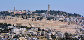 Urban landscape view of Jerusalem - Israel Stock Image
