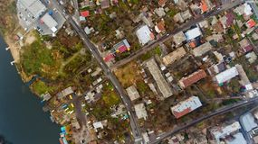 Urban landscape Vinnytsia, Ukraine. Top view Royalty Free Stock Photography