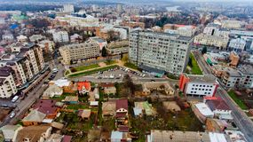 Urban landscape Vinnytsia, Ukraine. Aerial view Stock Photography