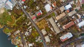 Urban landscape Vinnytsia, Ukraine. Top view royalty free stock image