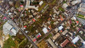 Urban landscape Vinnytsia, Ukraine. Top view Stock Photo