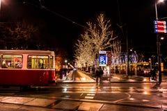 Urban landscape from Wien. Warm colours in winter season. Landscape taken in urban area from Wien royalty free stock photo