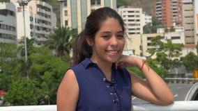 Urban Latina Teen Girl. A young teen hispanic female royalty free stock photos