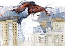 Urban life vector illustration