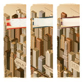 Urban life-  banners Royalty Free Stock Image
