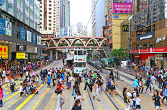 Urban life in causeway bay, hong kong Royalty Free Stock Image