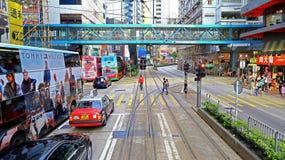 Urban life in causeway bay, hong kong Stock Photo