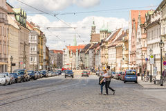 Urban life in the city of Augsburg Royalty Free Stock Photo