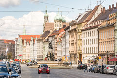 Urban life in the city of Augsburg Royalty Free Stock Images