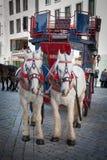 Urban life of Dresden. Tourist's carriage Royalty Free Stock Photo