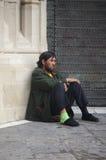 Urban life: Homeless and beggars Stock Photo