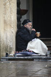 Urban life: Homeless and beggars 4 Royalty Free Stock Image