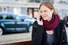 Urban Life Moment - Woman on the Phone Stock Photography
