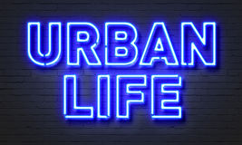 Urban life neon sign Stock Photo