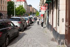 Urban life. People Walking In A Big City Royalty Free Stock Photo
