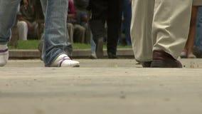 Urban life. People walking in the street stock footage