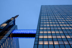 Urban life - Sky towers in Brussel. Business centre in Brussels by night Stock Image