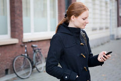 Urban Life - Woman with Mobile Phone Stock Image