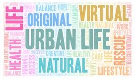 Urban Life word cloud stock photos