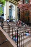 Urban lifestyle in Back Bay, Boston Royalty Free Stock Image