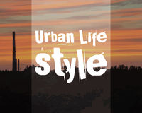 Urban lifestyle poster banner. City landscape on Royalty Free Stock Photography