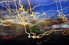 Urban light abstract royalty free stock photo