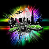 Urban light Disco Flyers Royalty Free Stock Photo
